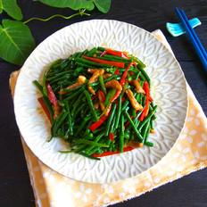 尖椒肉丝炒豇豆