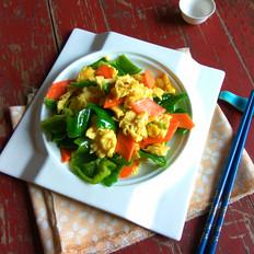 青椒胡萝卜炒鸡蛋