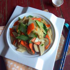 杏鲍菇炒黄瓜片