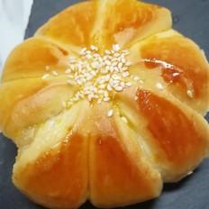果酱花朵面包