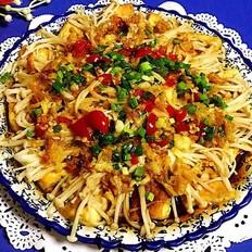 蒜蓉豆腐蒸金针菇