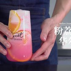 夏季时尚饮品粉荔香橙华尔枝
