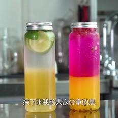 【火龙百香气泡茶】分层饮品做法技巧分享