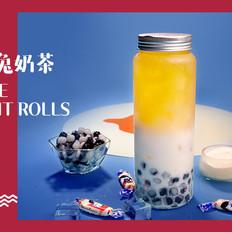 用大白兔奶糖做甜品,熊猫大白兔奶茶的做法