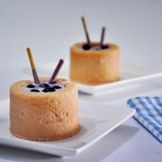 蓝莓酸奶面包杯