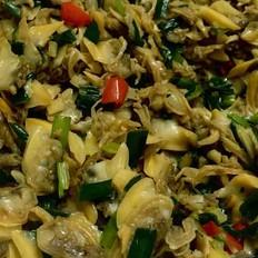 韭菜炒砚肉
