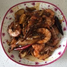 红烧蒜蓉大虾
