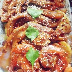干锅鸭掌烩大虾