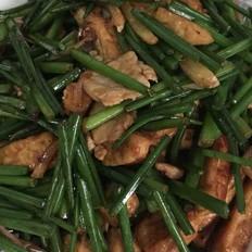 韭菜苔烧豆腐