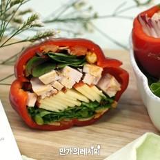 红灯笼椒三明治