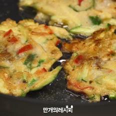 西葫芦蛤蜊煎饼