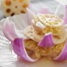 创意菜——莲花洋葱