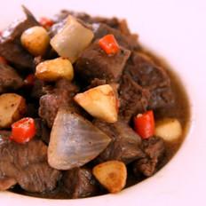 黑椒蒜子牛肉粒