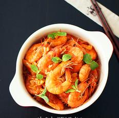 薄荷番茄虾的做法