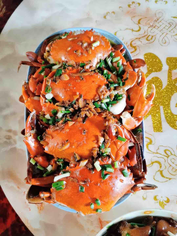 鸡蛋粉丝蒸肉蟹