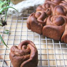 巧克力玫瑰花面包
