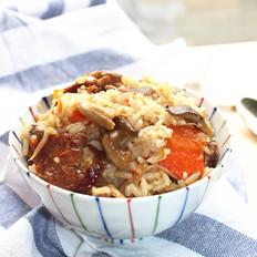 腊肠蘑菇焖饭