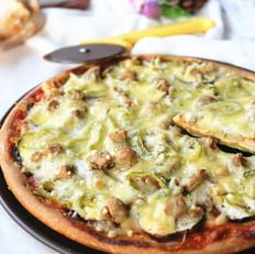茄子青椒披萨