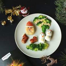 圣诞派对香肠土豆泥沙拉#早餐#