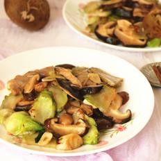 儿菜香菇炒肉片