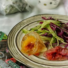燕窝冰心粽蔬菜沙拉