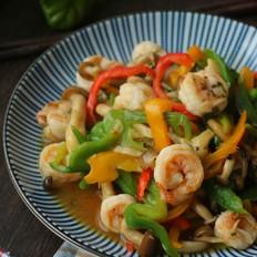 海鲜菇炒虾仁