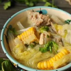白菜玉米排骨汤