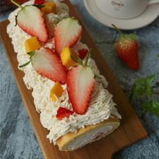 草莓蛋糕卷#红火过新年#