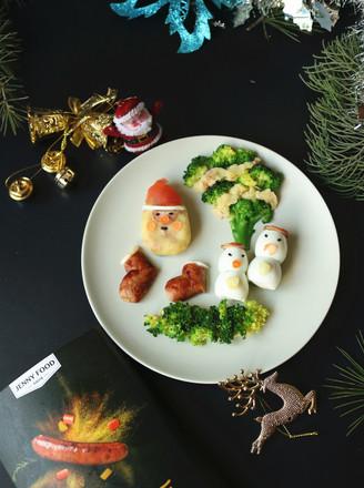 圣诞派对香肠土豆泥沙拉#早餐#的做法