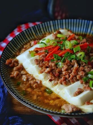 肉末蒸豆腐的做法