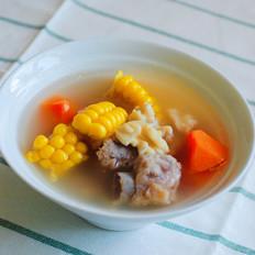 核桃玉米排骨汤