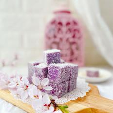 椰蓉紫薯牛奶小方