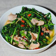 枸杞芽炒肉