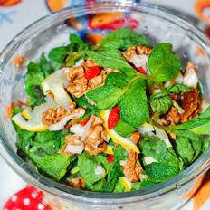 石香菜拌核桃仁