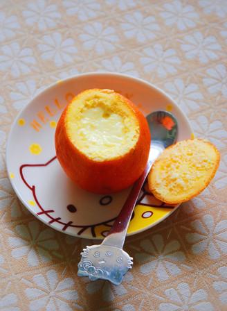 鲜橙蒸蛋的做法