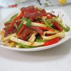 香肠辣椒豆腐丝