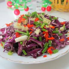 凉拌紫色包菜丝