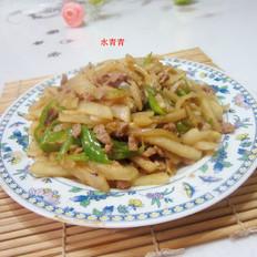 肉炒凉薯丝