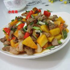 南瓜丁炒肉