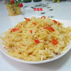 土豆丝咖喱饭