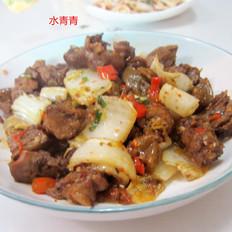 烤鸭炒白菜梗子
