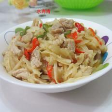 咖喱香萝卜丝炒肉
