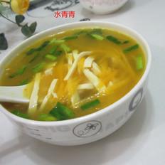 南瓜豆腐丝汤