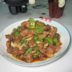 鲜豆角炒鸭