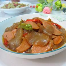 魔芋豆腐烧火腿