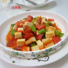 芹菜火腿豆腐丁