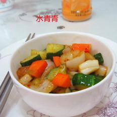 洋葱黄瓜胡萝卜丁
