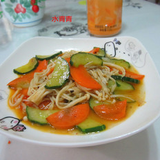黄瓜胡萝卜烧金针菇