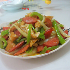 香肠油豆腐白菜丝