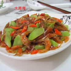 莴笋丁炒虾